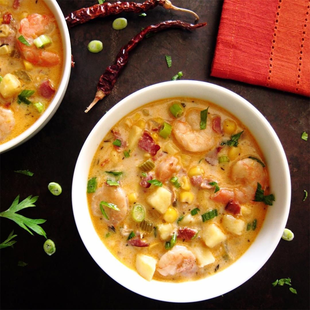 Creamy Instant Pot Chipotle Shrimp Soup
