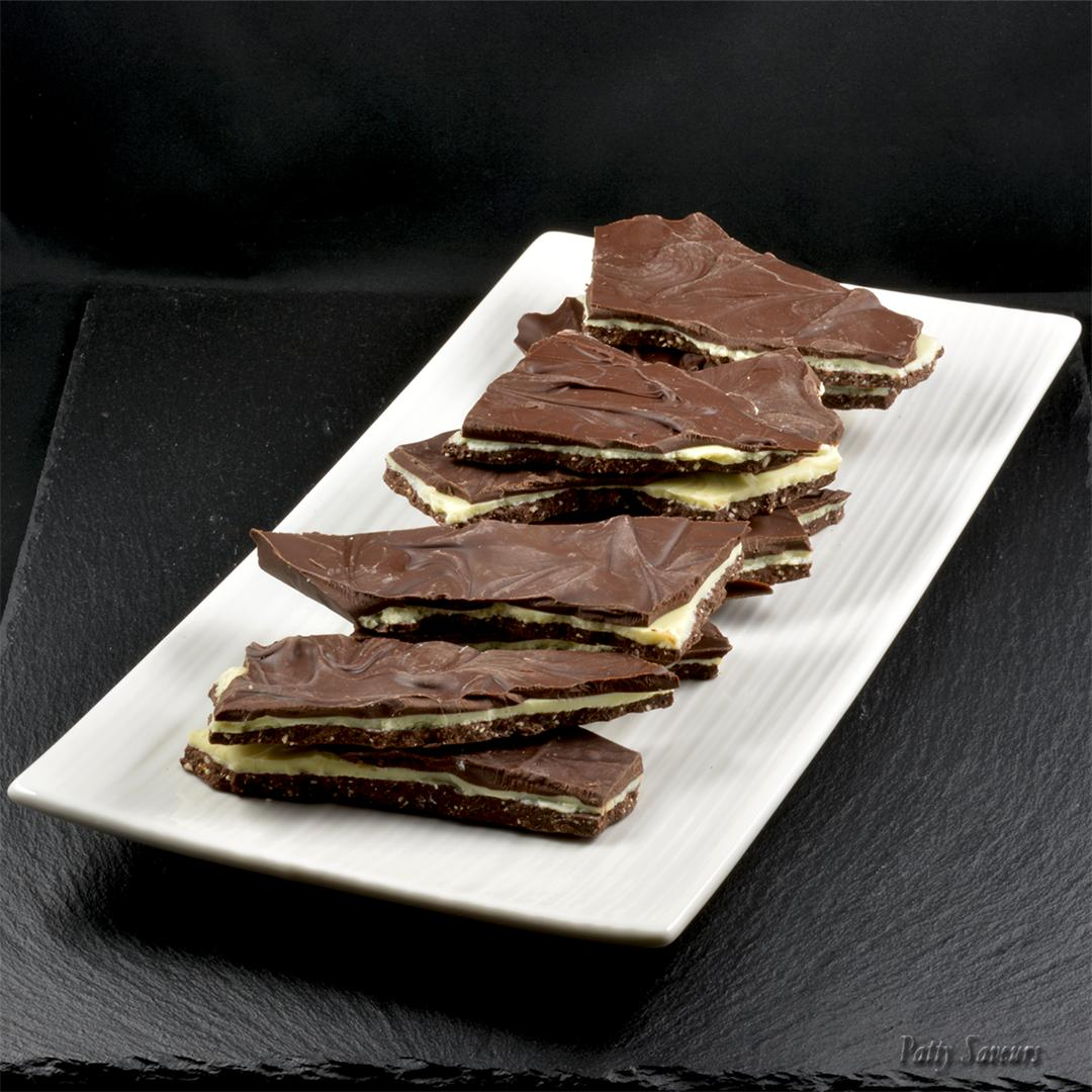 Triple Chocolate Praline Bark