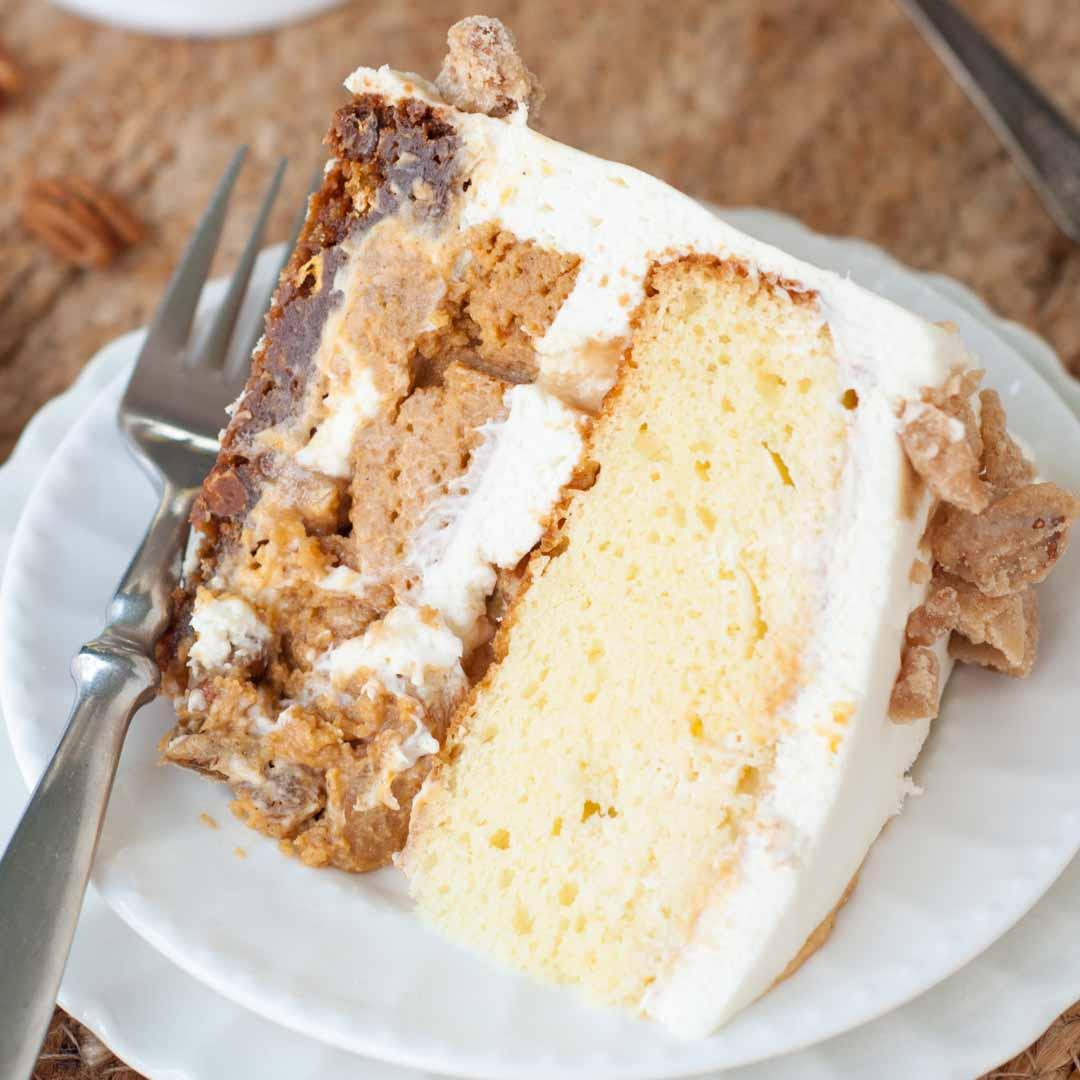 """Pumpkin Praline """"PieCaken"""" Layer Cake"""