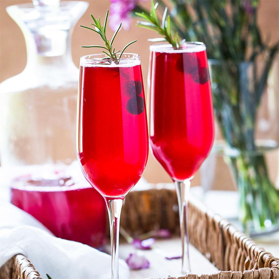 Healthy & Festive Cranberry Mimosa