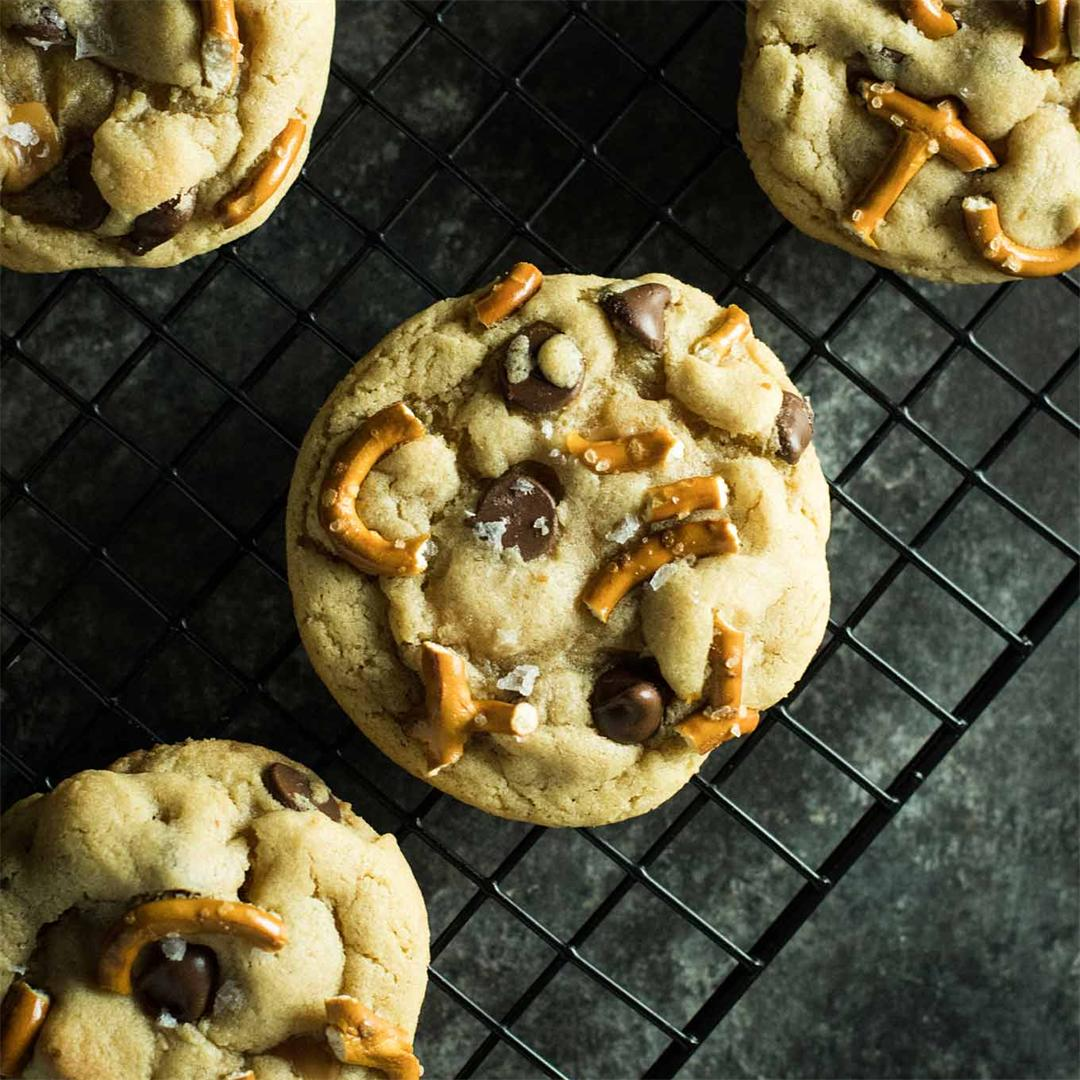 Take 5 Cookies with chocolate chips, pretzels, and caramel!