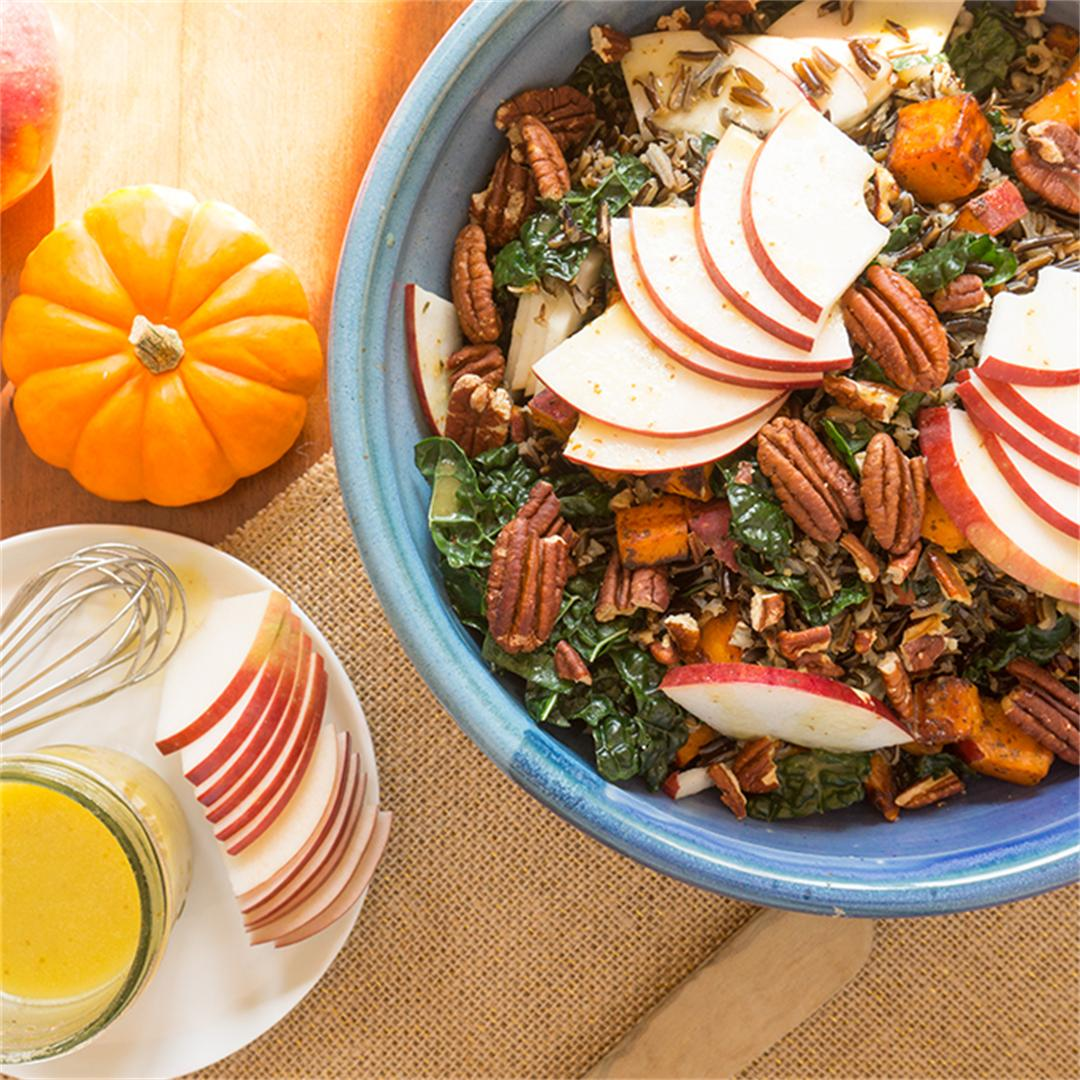 Wild Rice with Apple, Kale and Apple Cider Vinaigrette