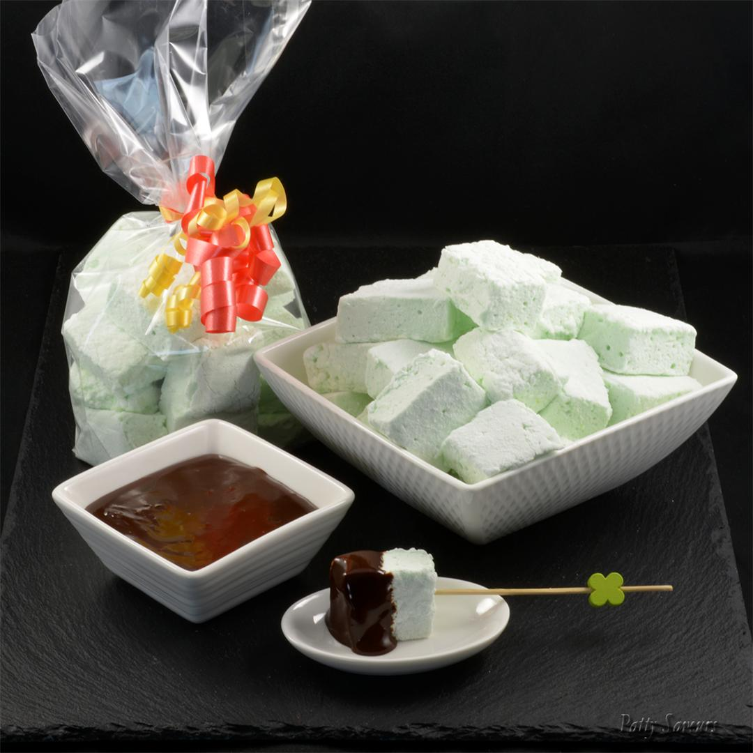 Homemade Mint Marshmallows