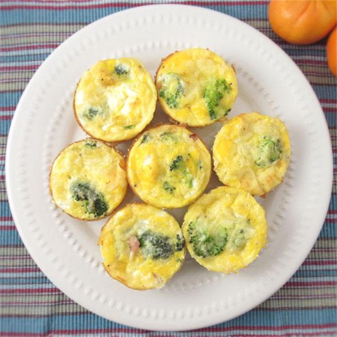 Broccoli and Ham Muffin Cups