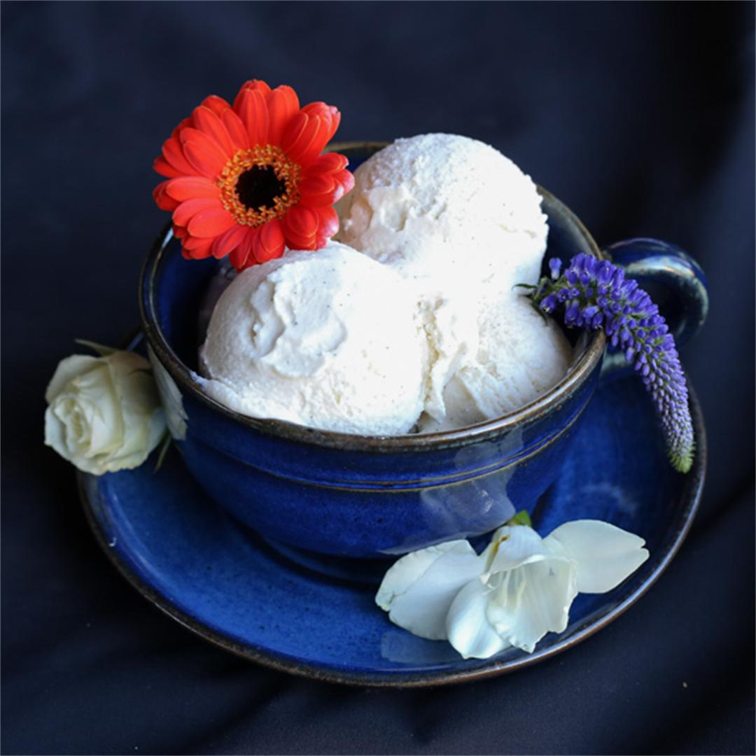 Vanilla Orange Blossom Ice Cream