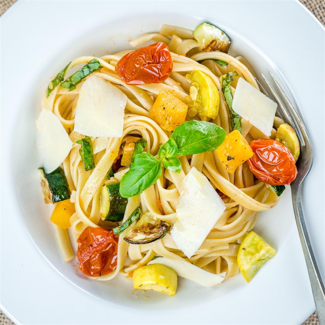 Roasted Vegetable Fettuccine