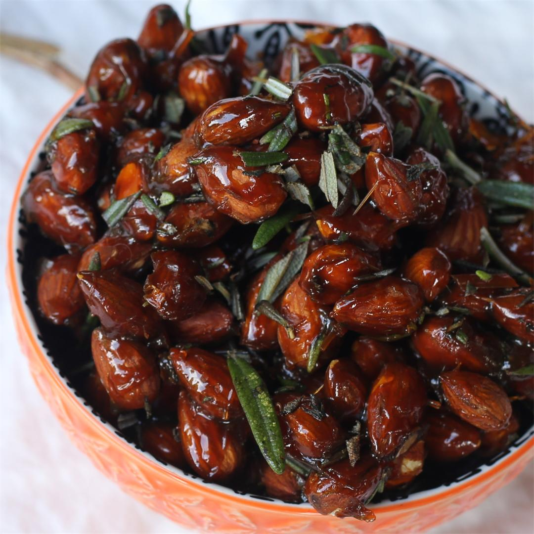 Maple Rosemary Almonds