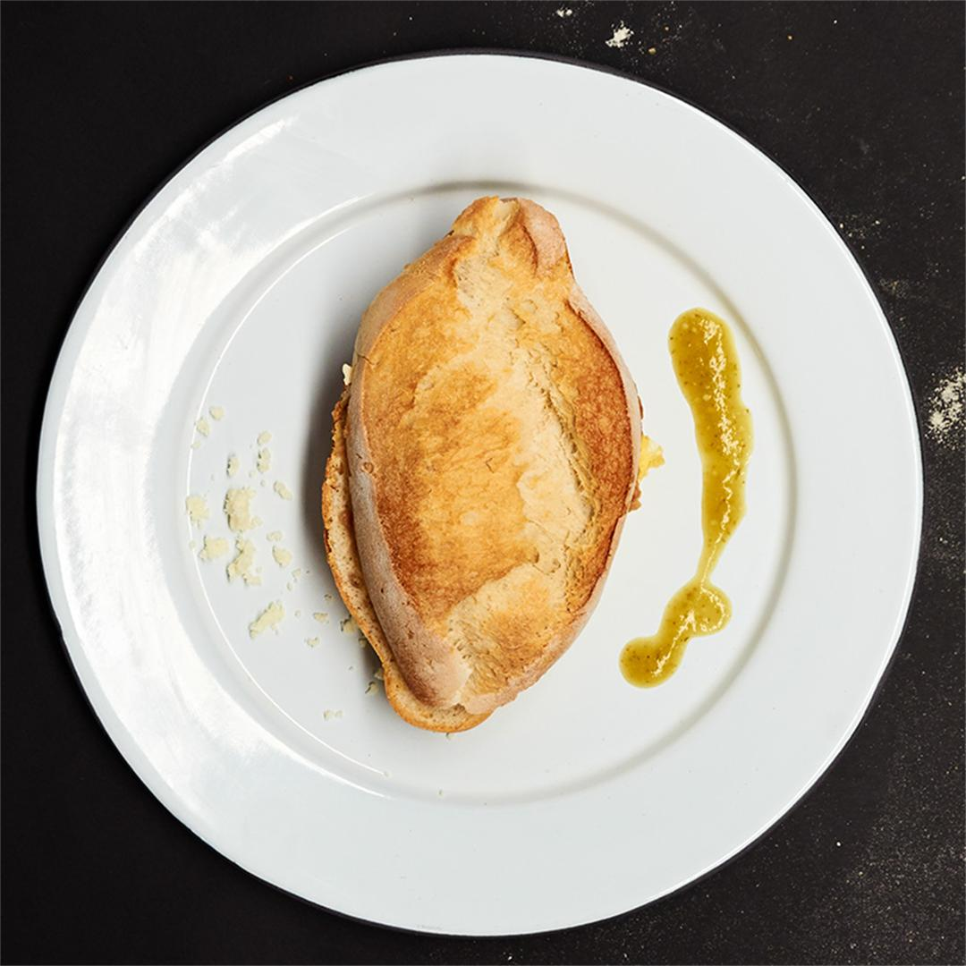 Egg Torta with Salsa Verde