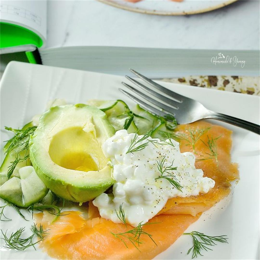 Quick and Easy Smoked Salmon Plate
