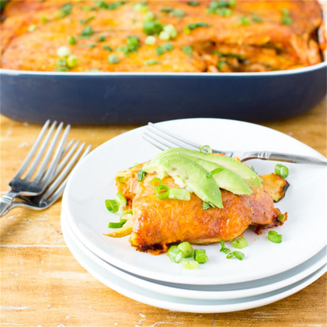 Low Carb Turkey Enchilada Bake