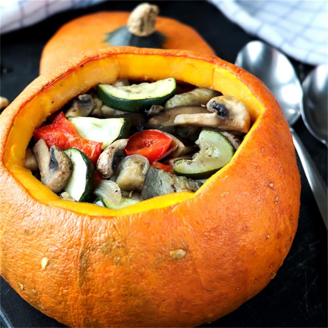 Stuffed pumpkin - baked vegetables