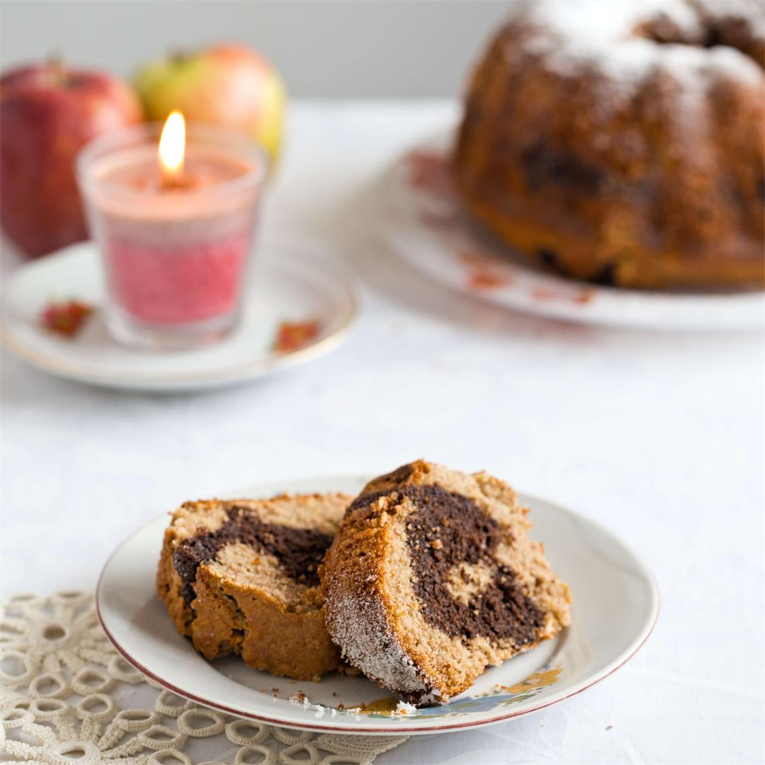 Apple Chocolate Marble Bundt Cake