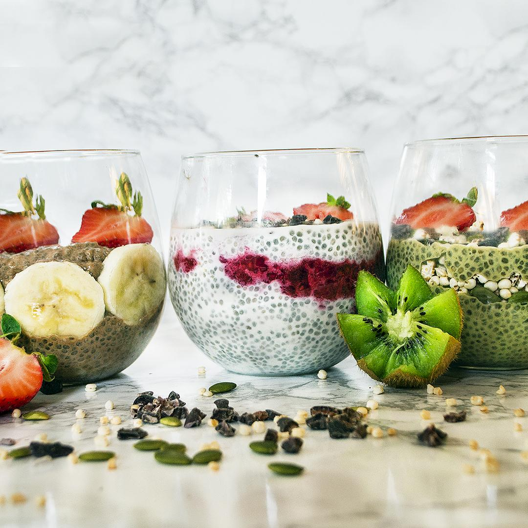 Vegan Chia Pudding 3-Ways
