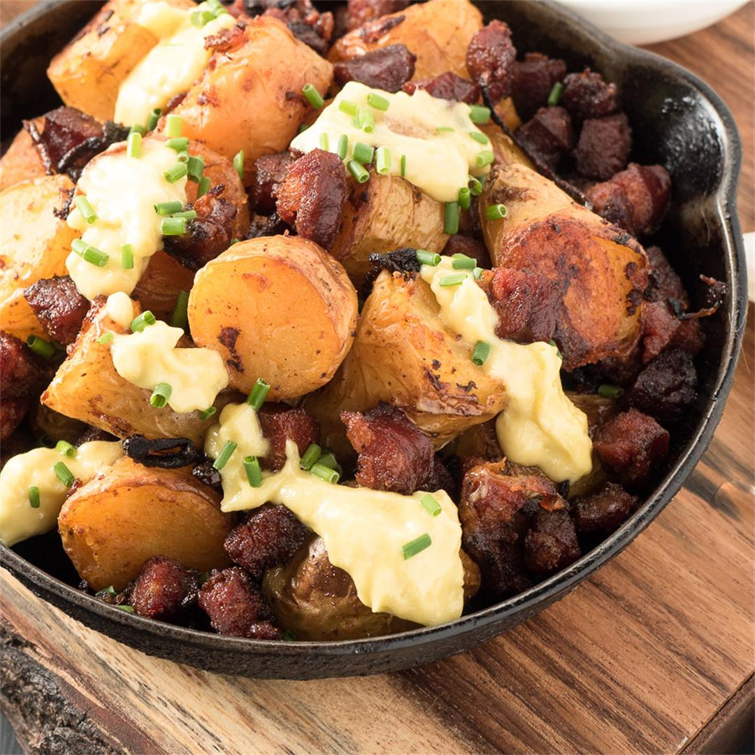 Spanish chorizo potatoes are tapas times 10!