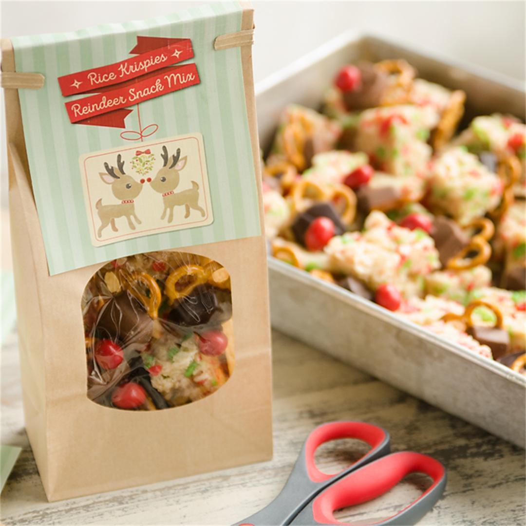 Rice Krispies Reindeer Snack Mix with Printable