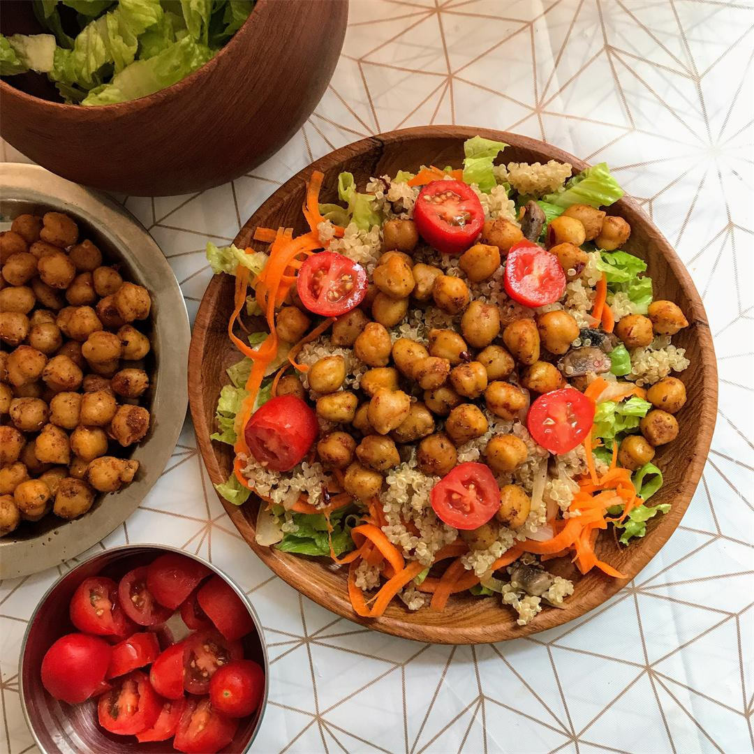 Quinoa and spiced Chickpea Salad