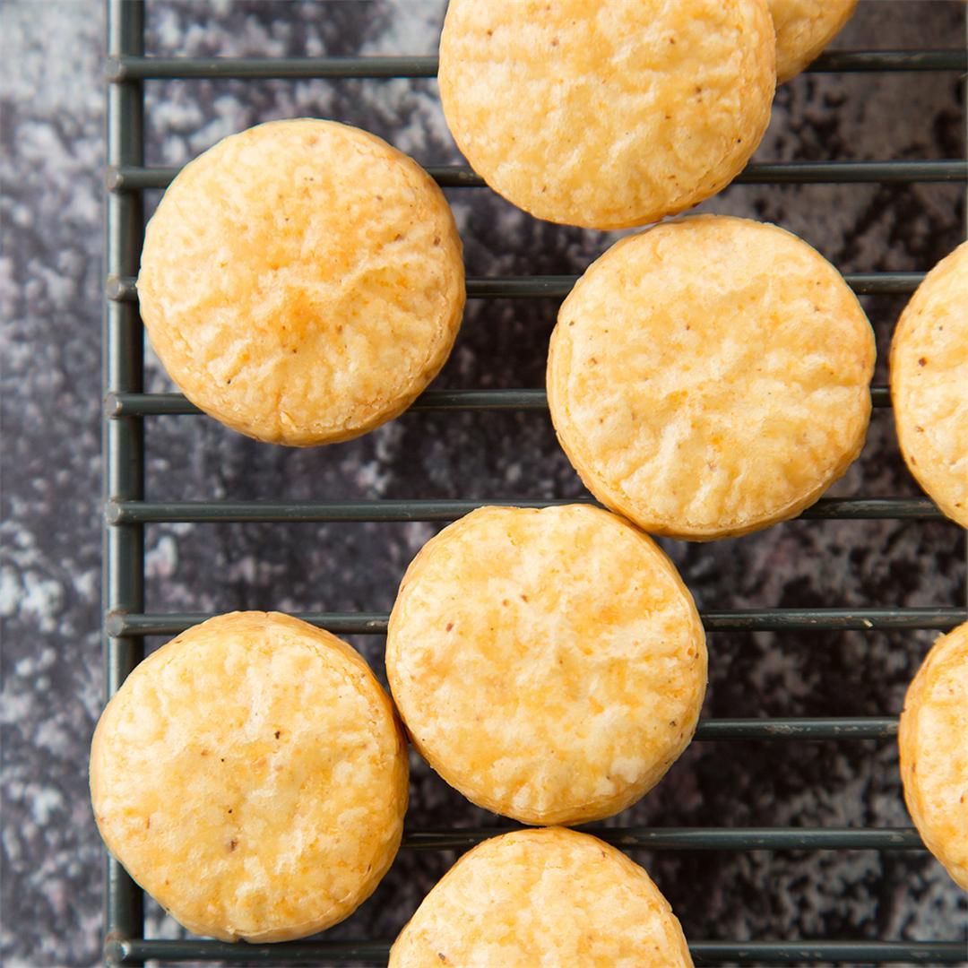 Smoked Gouda & Cheddar Cookies