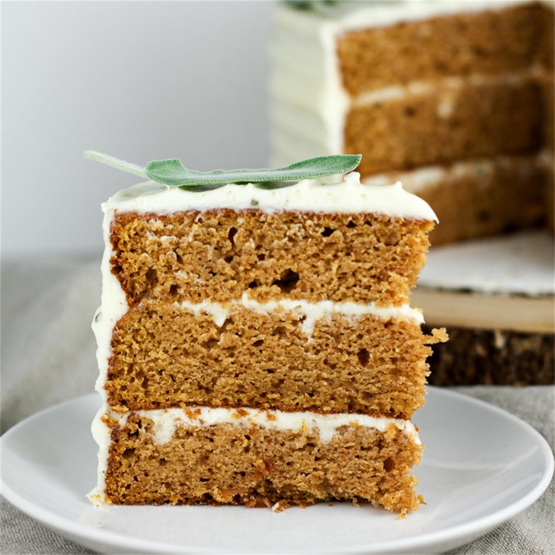 Sweet Potato Cake with Brown Butter Sage Frosting