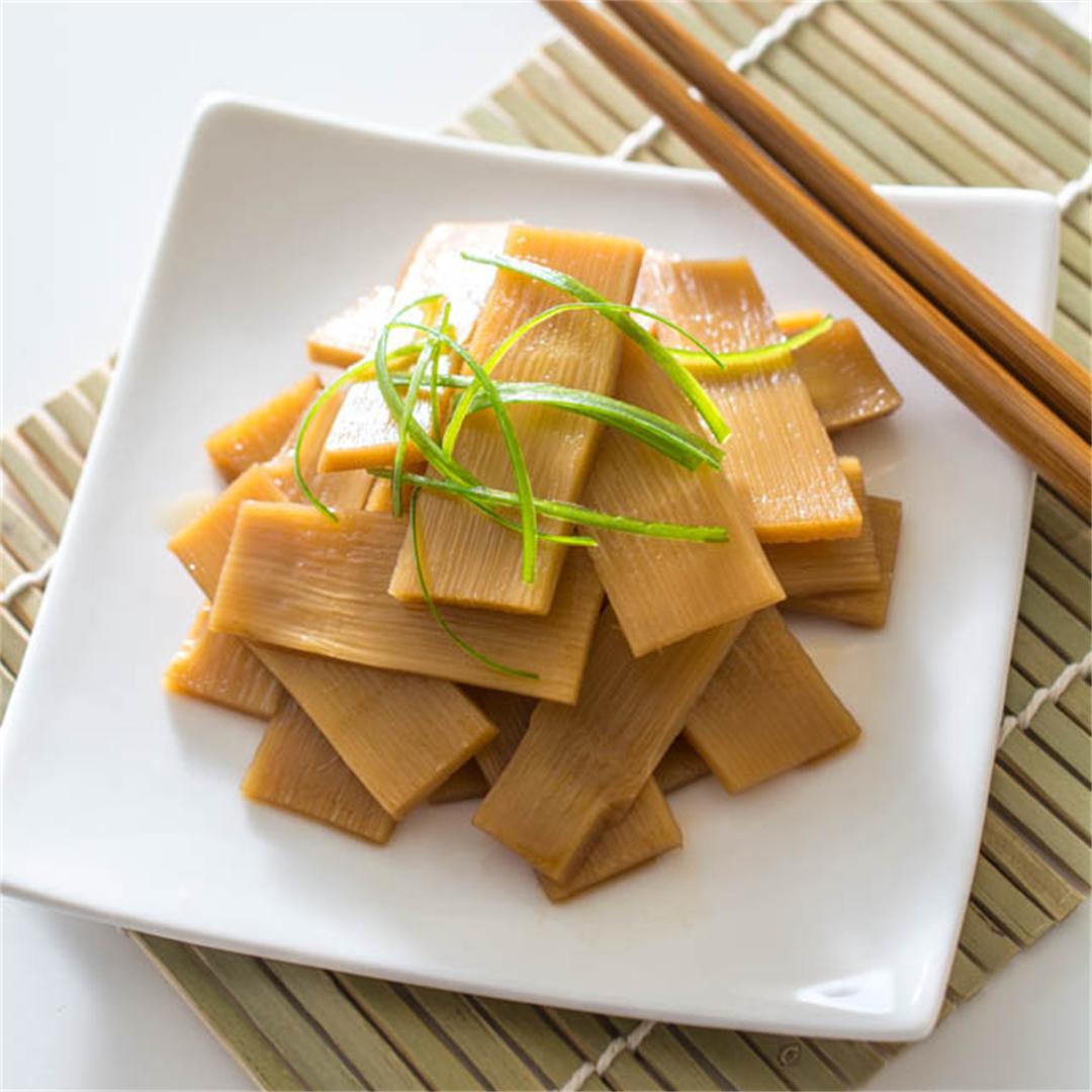 Menma (Seasoned Bamboo Shoots) for Ramen