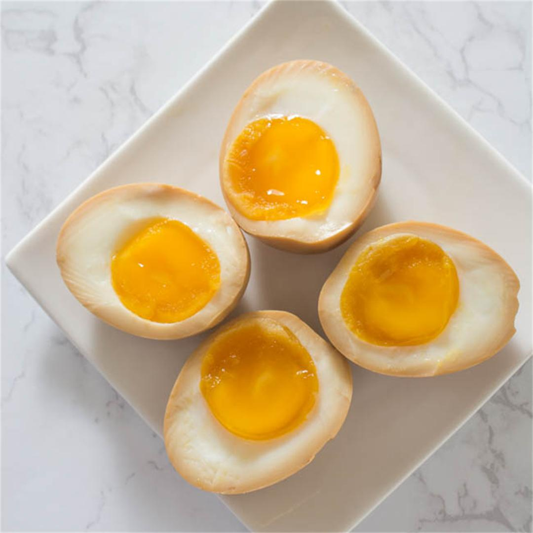 Half-Boiled Ajitama (Seasoned Eggs)