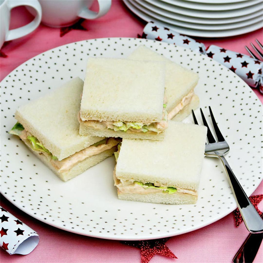 Delicious and delicate little salmon sandwiches