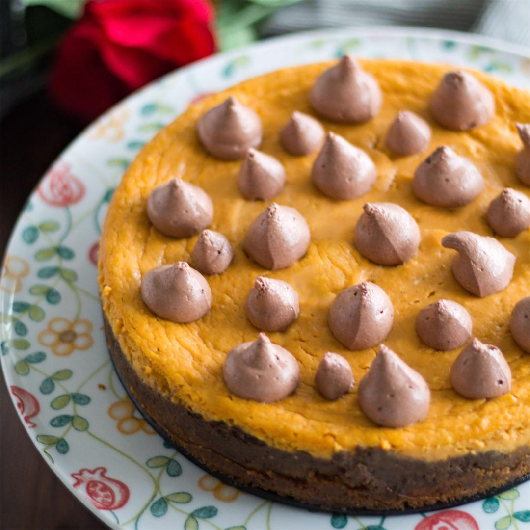 Sweet Potato Layer Cheesecake with Chocolate Mousse