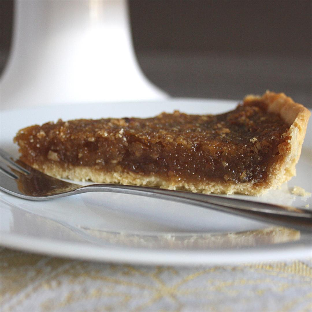 Tarted Up Treacle Tart with Ginger and Pecans