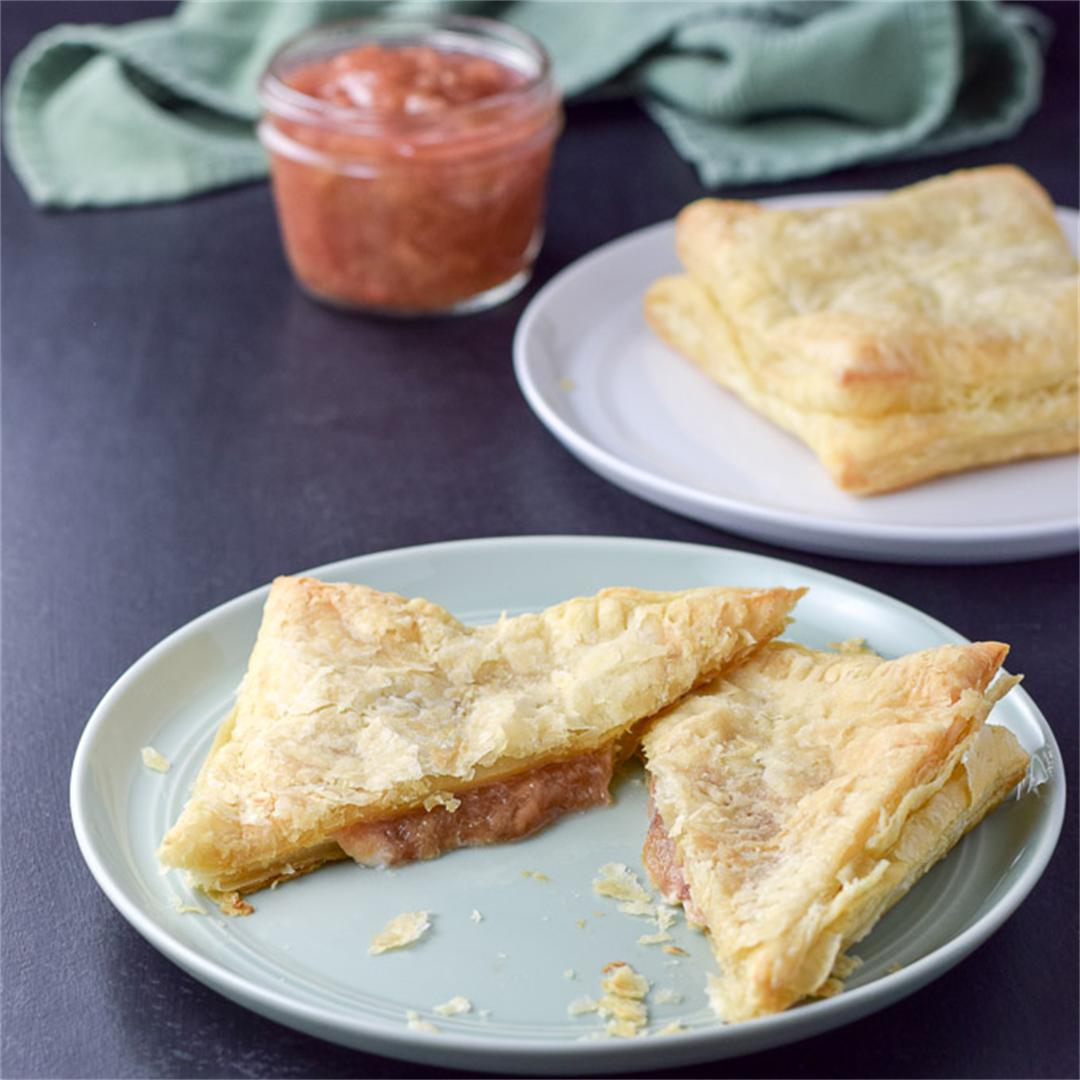 Cream Cheese Rhubarb Puff Pastry
