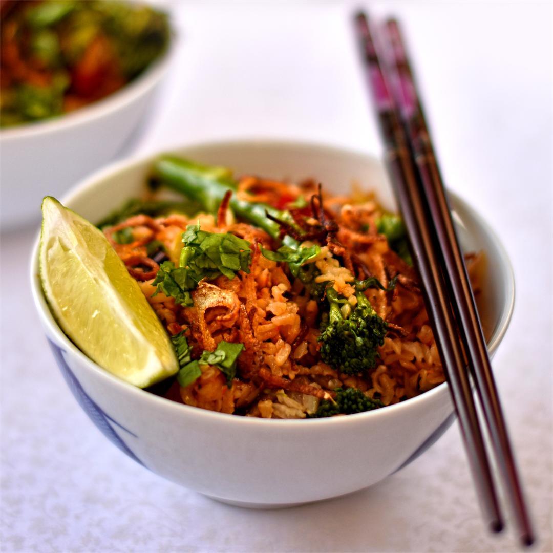 vegan Indonesian-style fried rice
