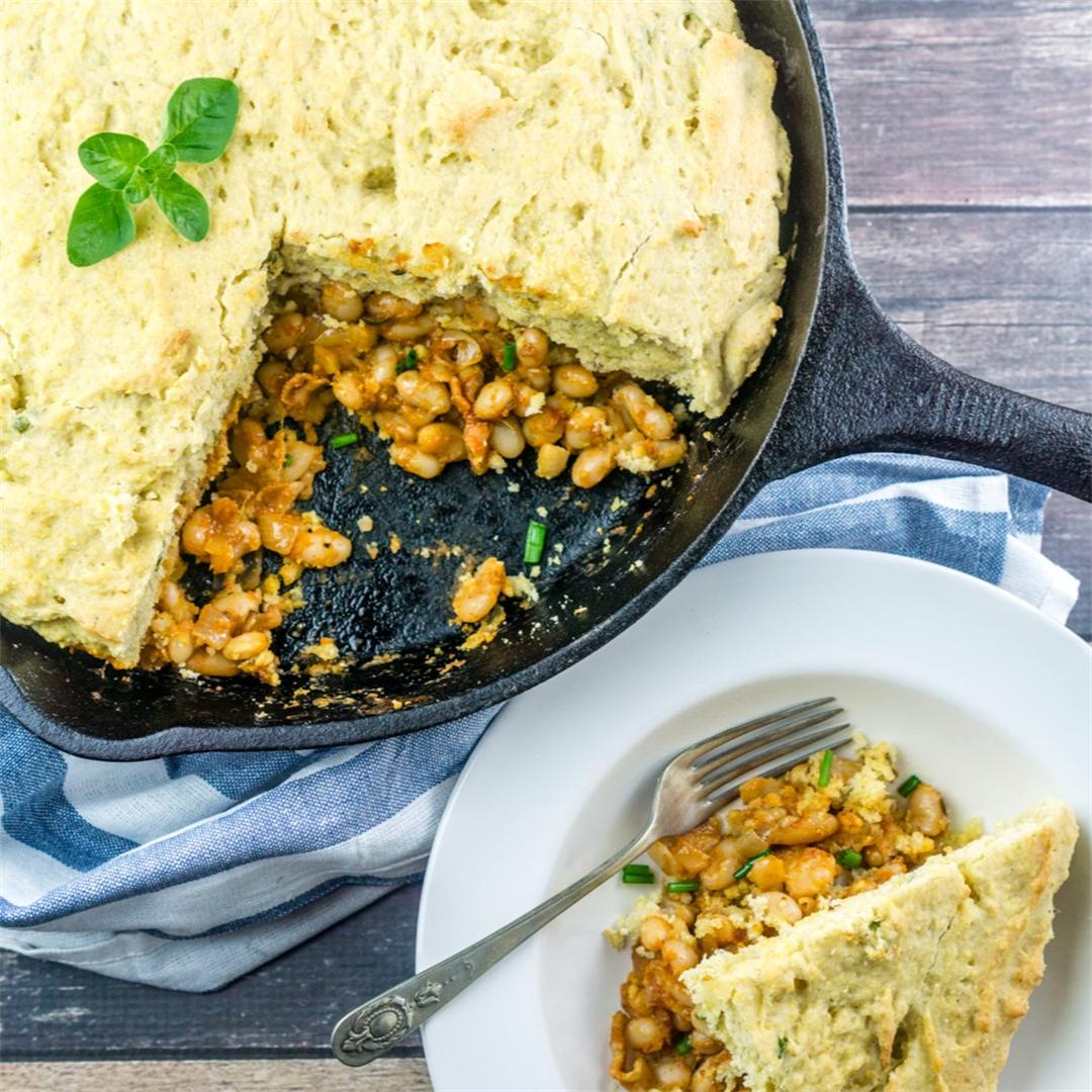 Baked Beans Cornbread Skillet - a one-pan meal!