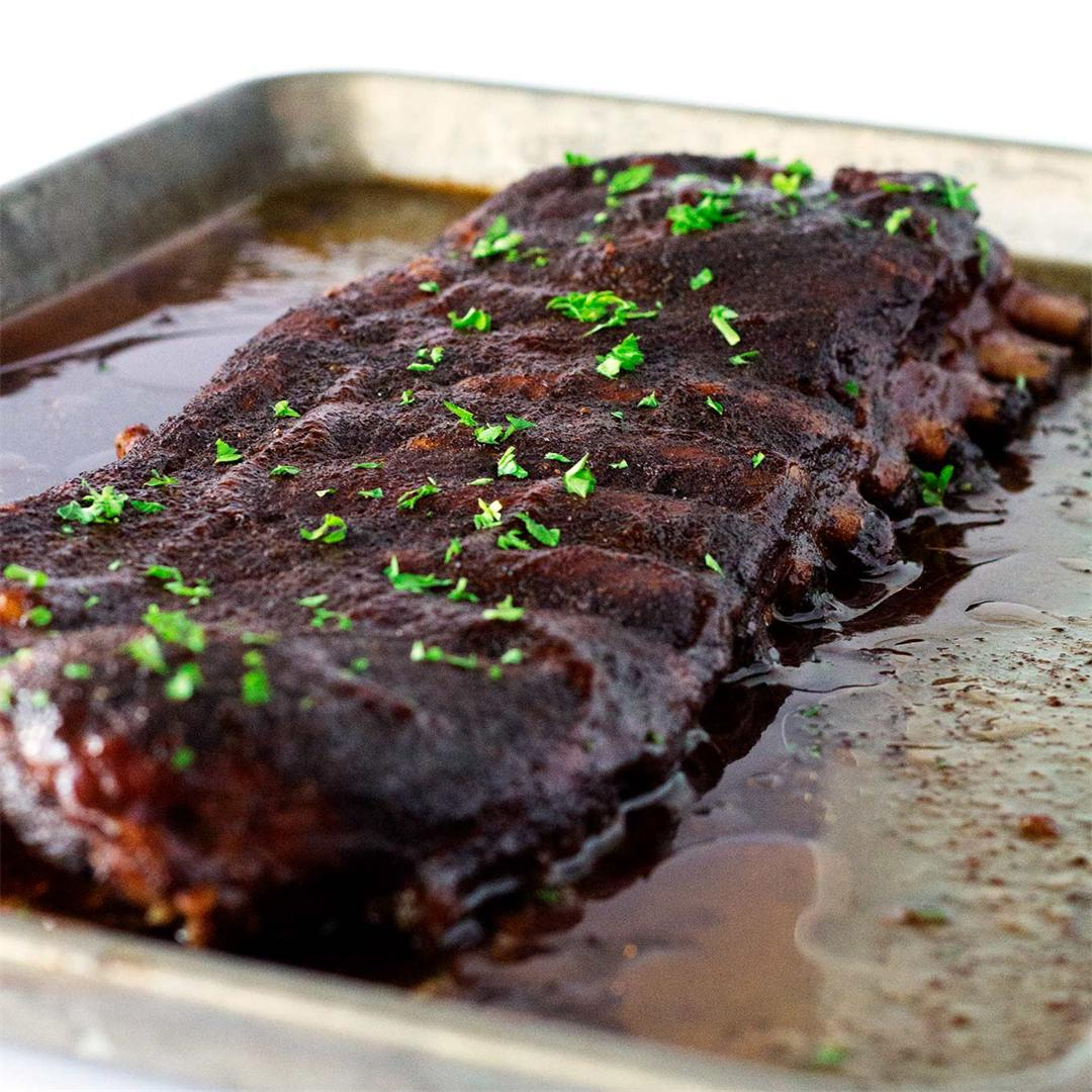 Oven Baked Ribs with BBQ Sauce
