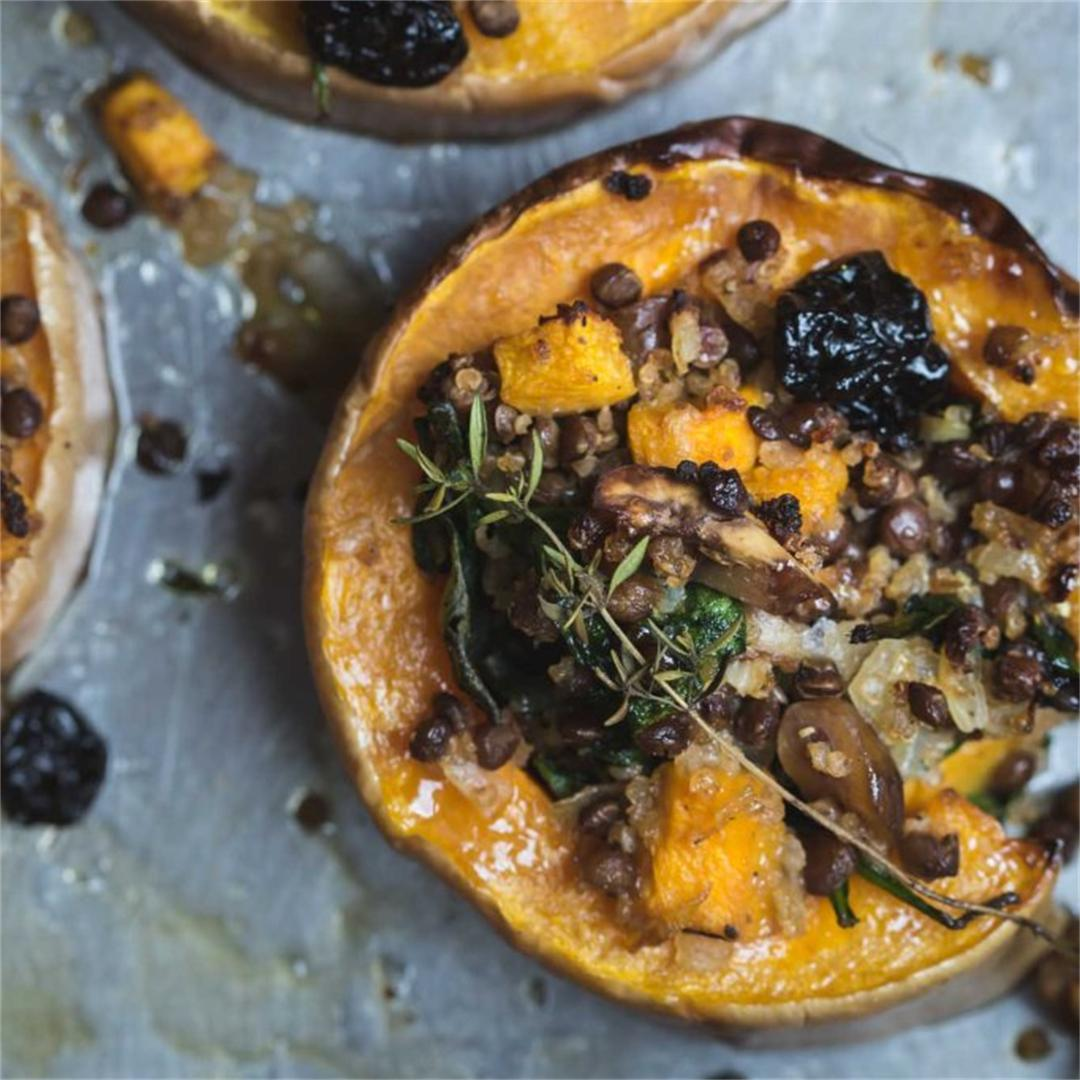 Simply Festive Stuffed Squash