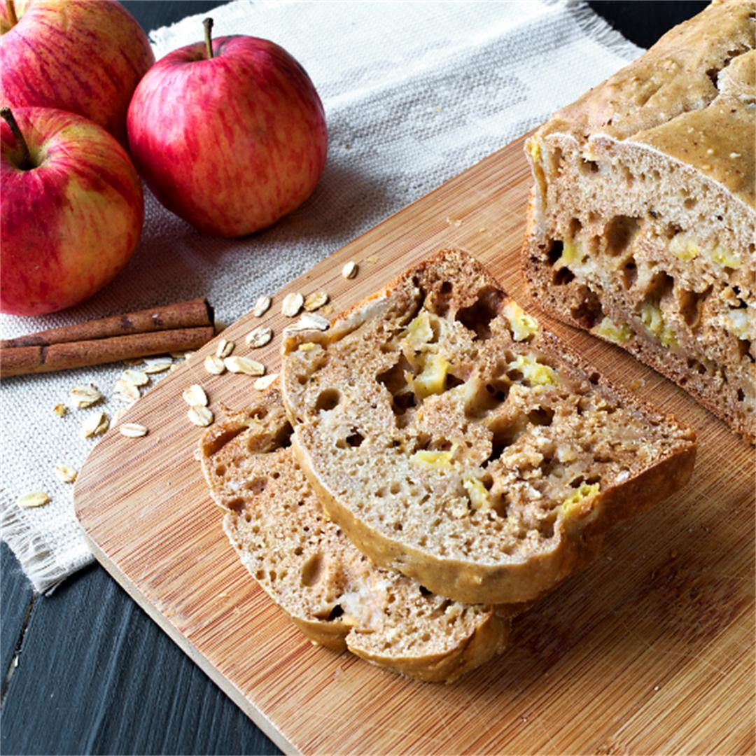 Apple cinnamon bread - oatmeal bread - no yeast bread