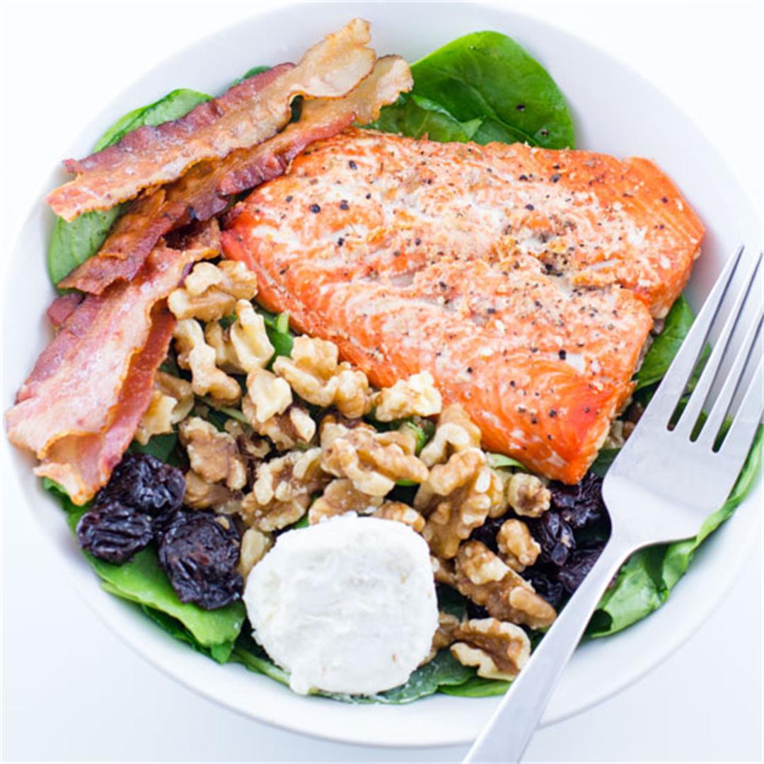Quick Salmon & Bacon Salad