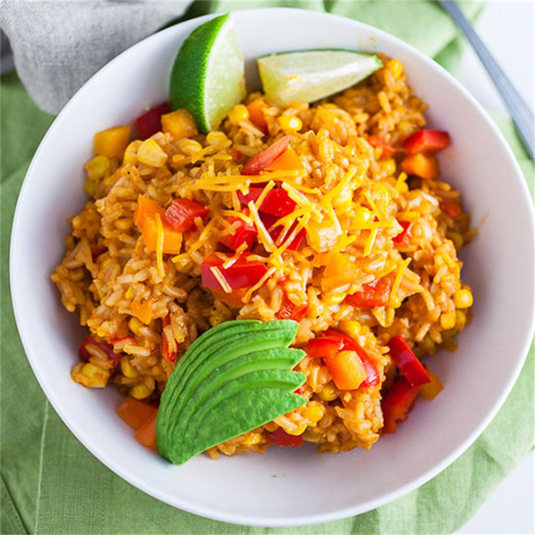 Cheesy One Pot Spanish Rice