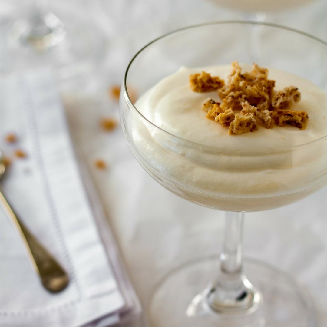 Lemon Syllabub with Amaretti