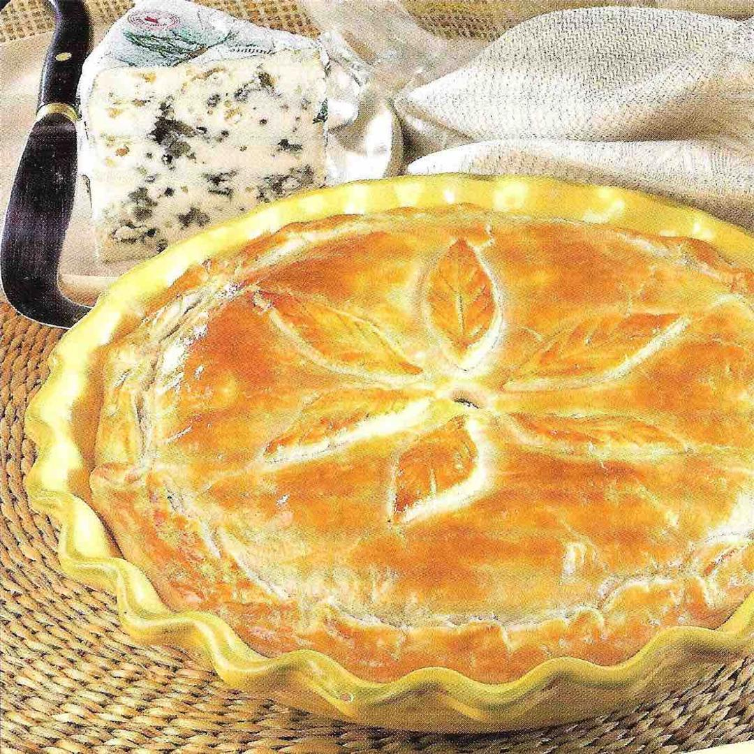 Spinach and roquefort pie