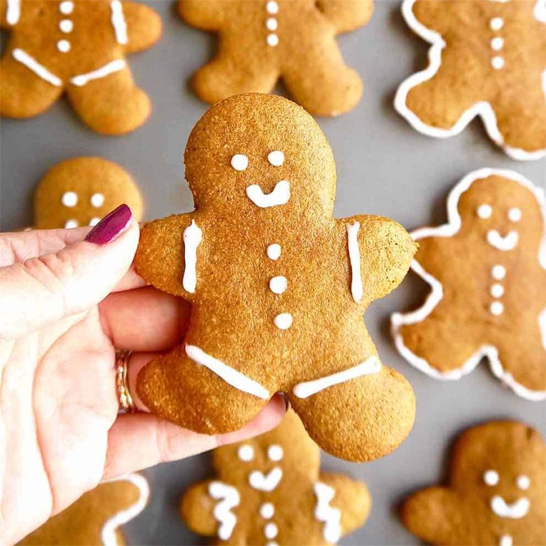 Paleo Almond Flour Gingerbread Men Cookies (GF)