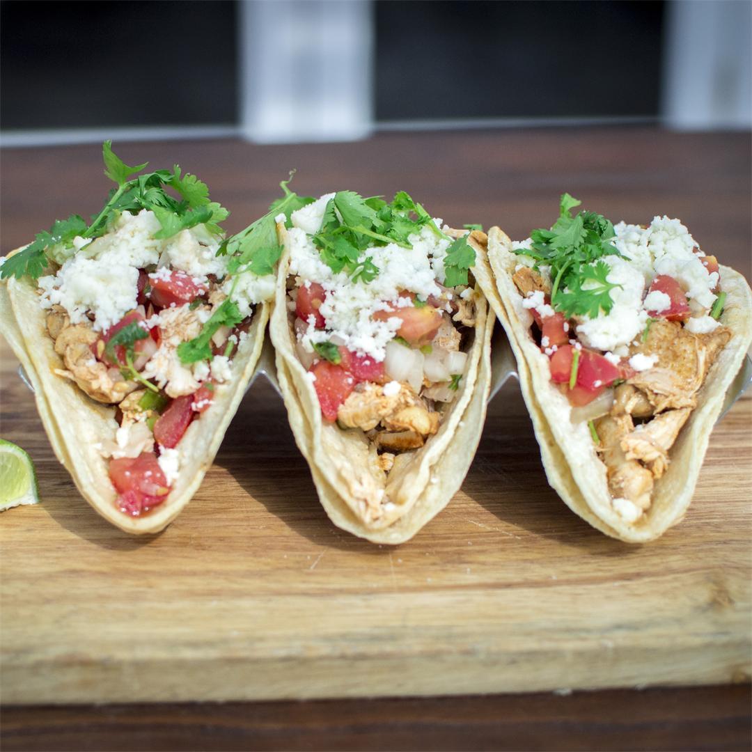 Puebla Chicken Tacos are my fave!