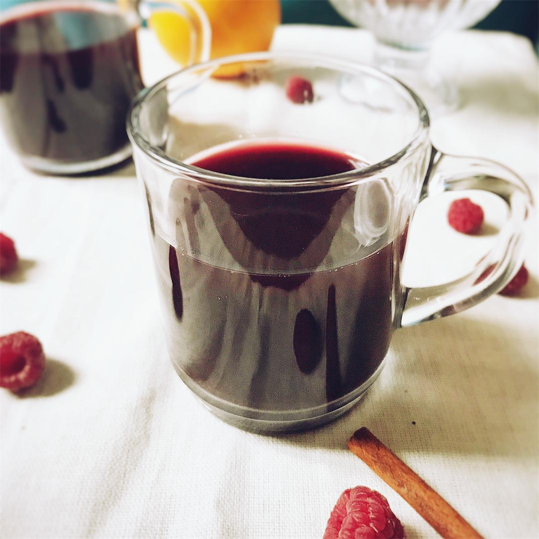 French mulled wine and spiced corn bread