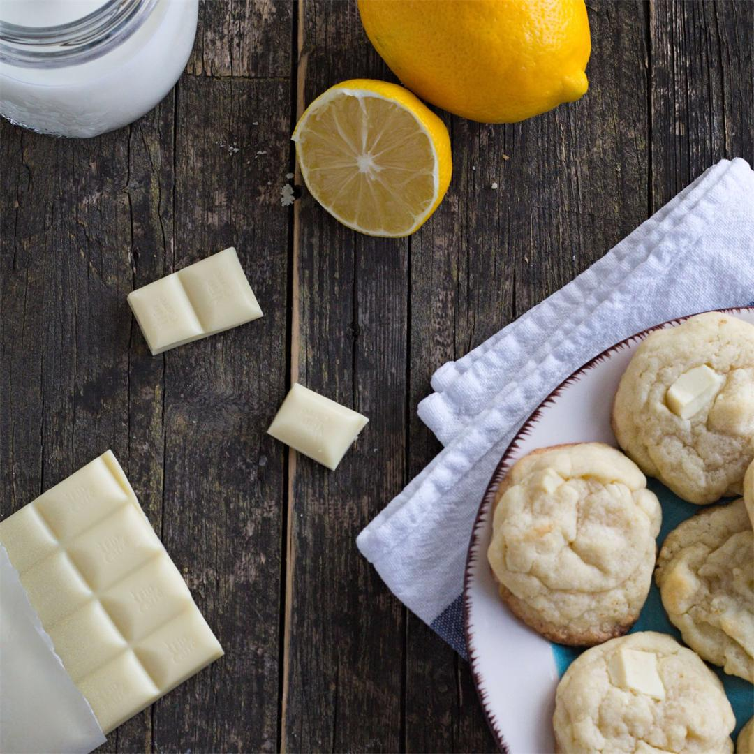 Soft Lemon White Chocolate Cookies