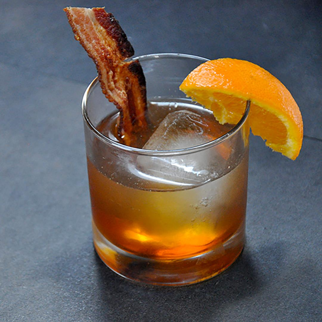 Bacon bourbon maple Old Fashioned