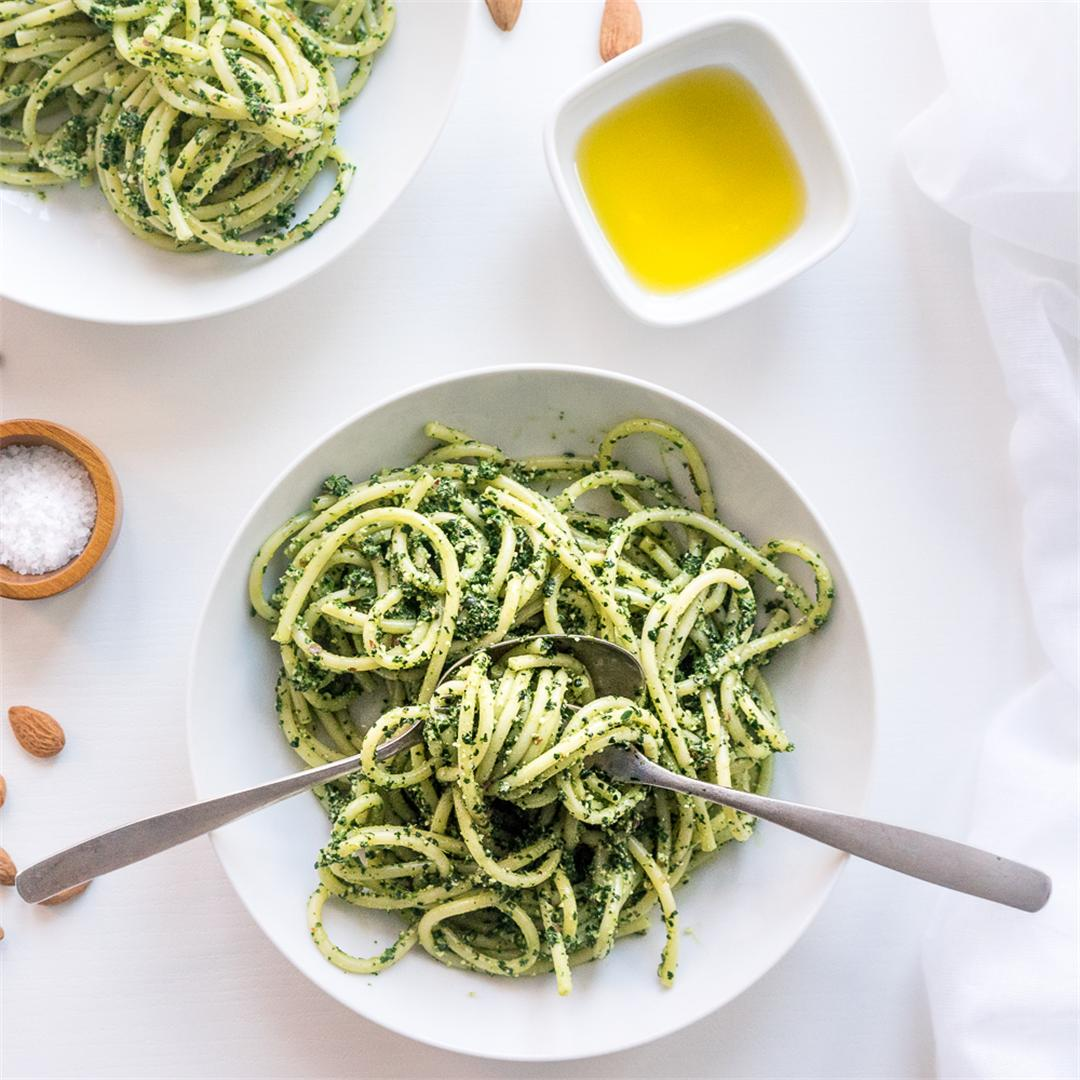 Winter Black Kale Pesto Pasta