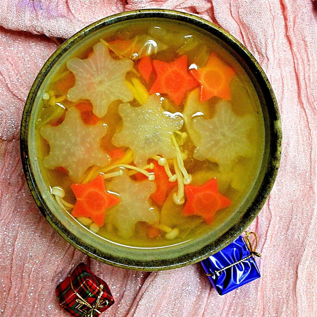 Winter holiday miso soup