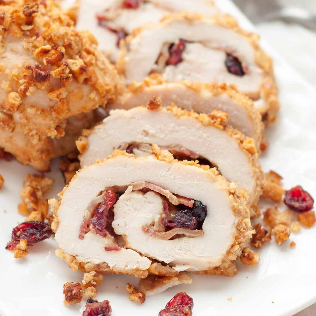 Cranberry Dijon Pretzel Chicken
