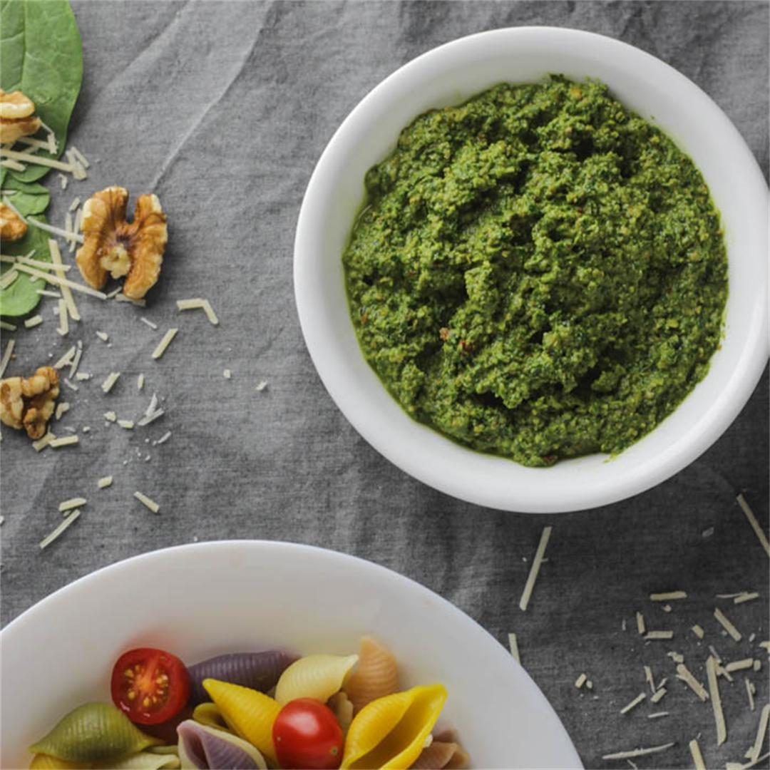 Toasted Walnut & Spinach Pesto