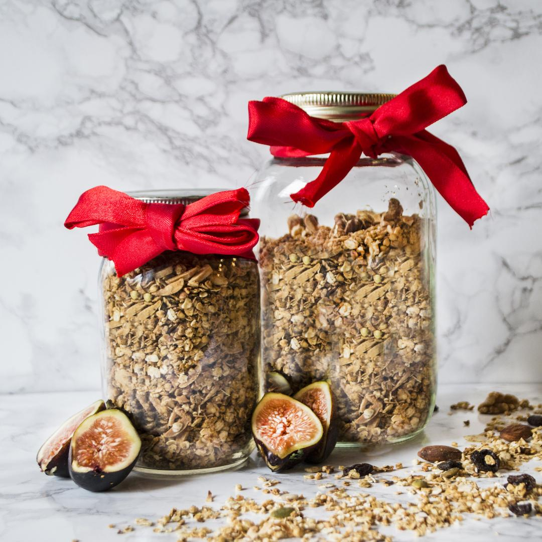 Chai Spiced Granola with Dried Figs