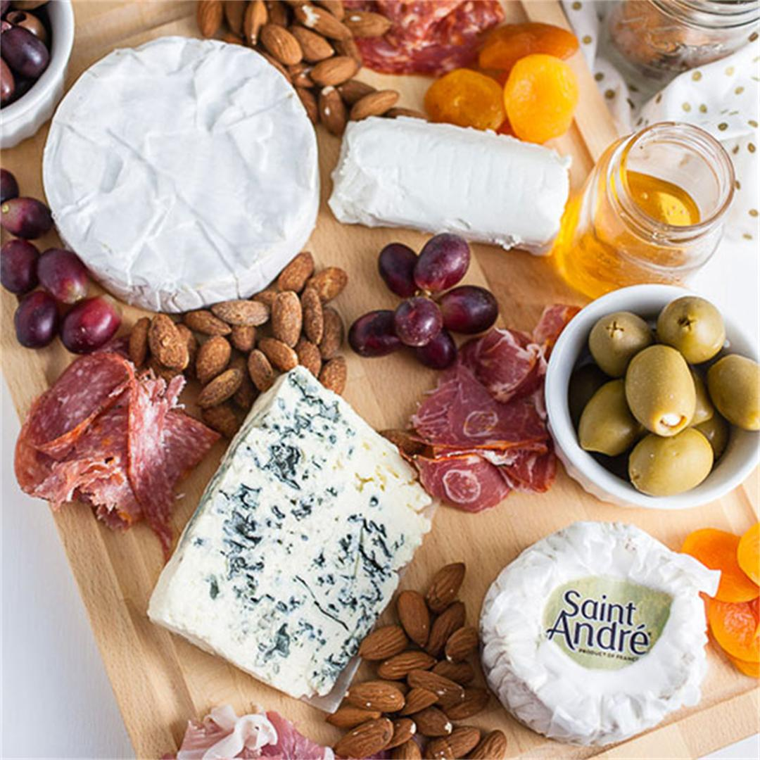 French Inspired Holiday Cheese Board