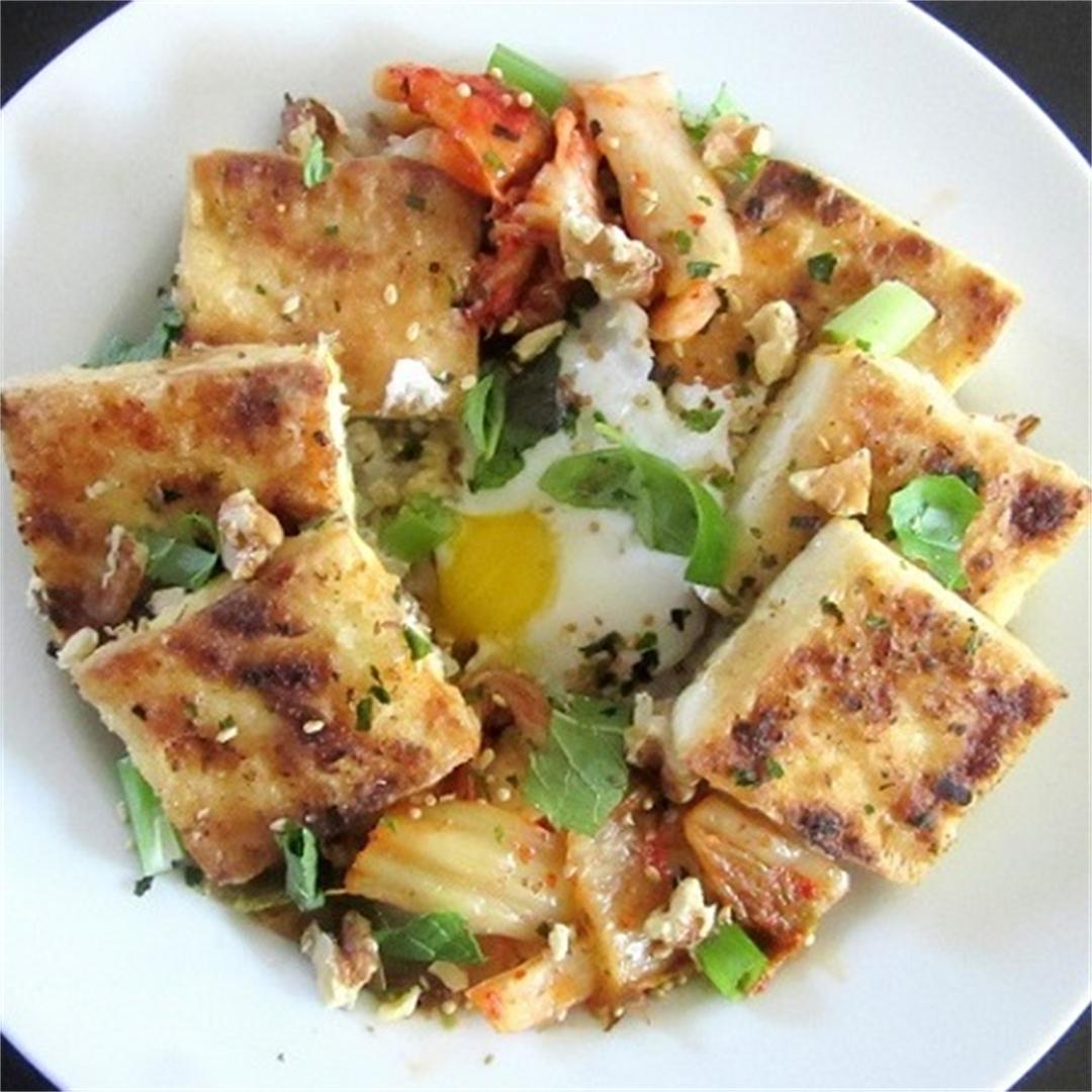 Spicy Pan-Fried Tofu Rice Bowl