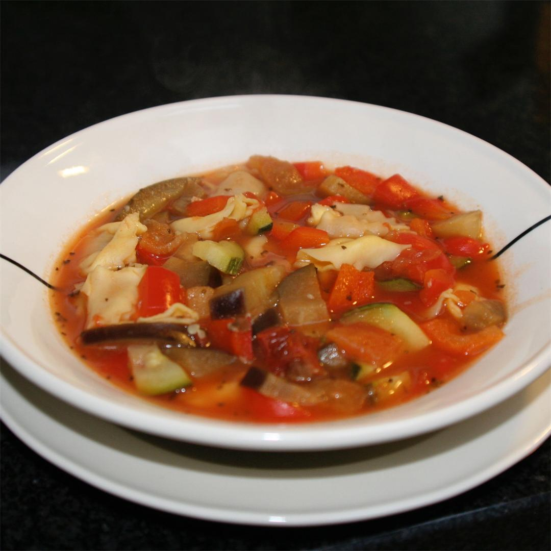 ratatouille soup with tortellini
